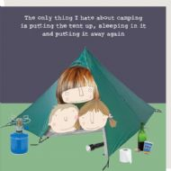 Rosie Made a Thing 'Hate Camping' Card